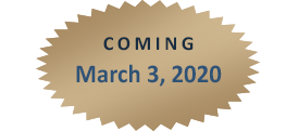 Coming March 3, 2020!