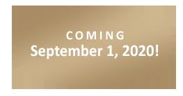 Coming September 1, 2020!